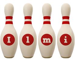 Ilmi bowling-pin logo