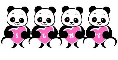 Ilmy love-panda logo