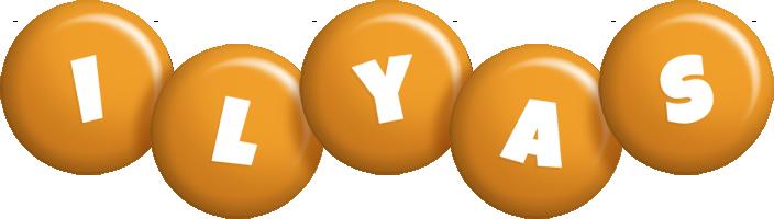 Ilyas candy-orange logo
