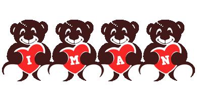 Iman bear logo