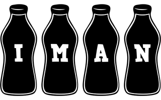 Iman bottle logo