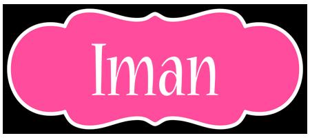 Iman invitation logo