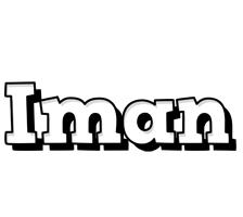 Iman snowing logo