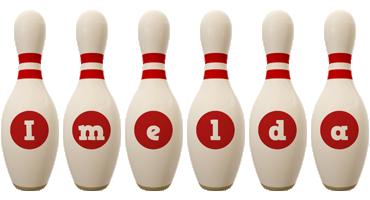 Imelda bowling-pin logo