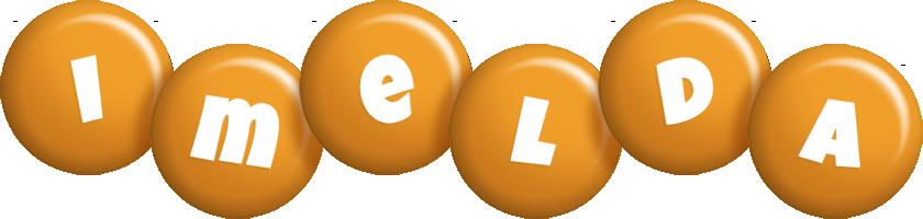 Imelda candy-orange logo