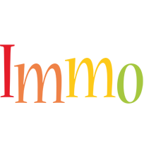 Immo birthday logo