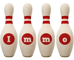 Immo bowling-pin logo