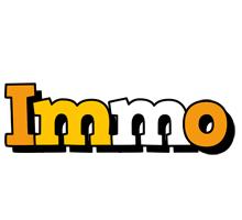 Immo cartoon logo