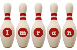 Imran bowling-pin logo