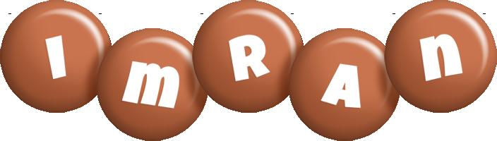 Imran candy-brown logo