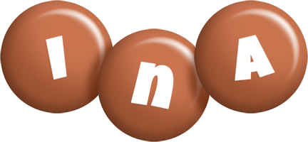 Ina candy-brown logo