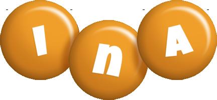 Ina candy-orange logo
