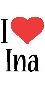 Ina i-love logo