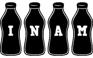 Inam bottle logo
