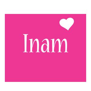 Inam love-heart logo