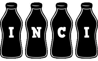 Inci bottle logo
