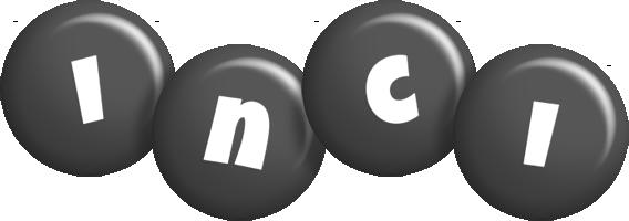 Inci candy-black logo
