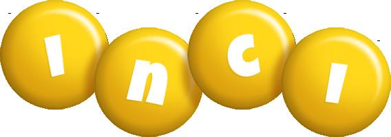 Inci candy-yellow logo