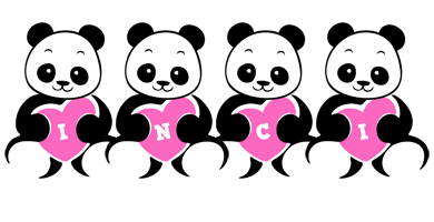 Inci love-panda logo