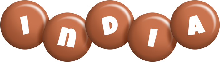 India candy-brown logo