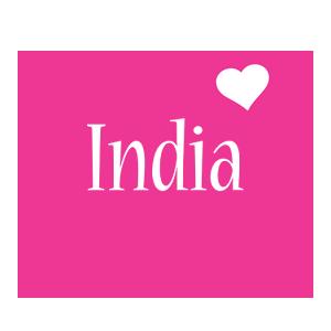 India love-heart logo