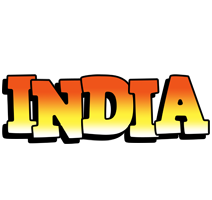 India sunset logo