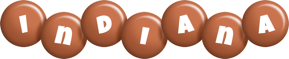 Indiana candy-brown logo