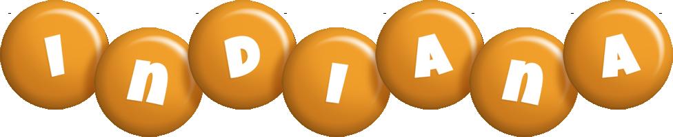 Indiana candy-orange logo