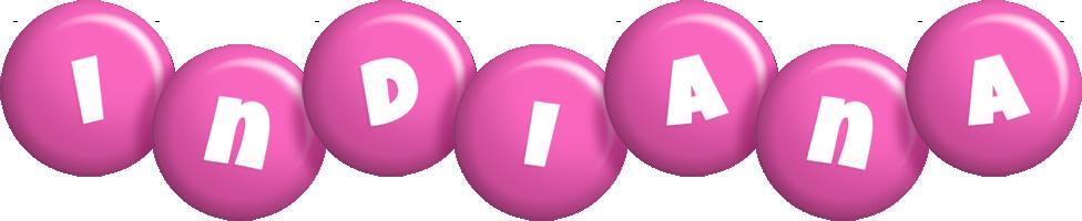 Indiana candy-pink logo