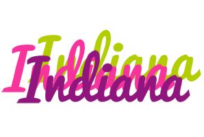Indiana flowers logo