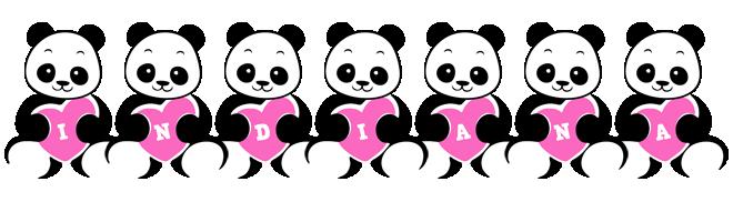 Indiana love-panda logo