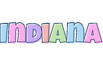 Indiana pastel logo