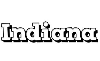 Indiana snowing logo