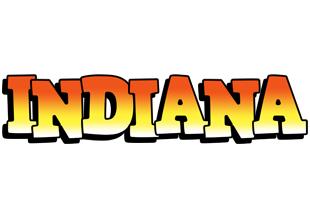 Indiana sunset logo