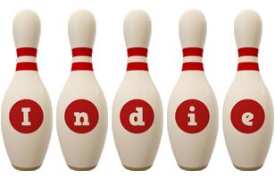 Indie bowling-pin logo