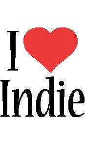 Indie i-love logo