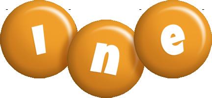 Ine candy-orange logo