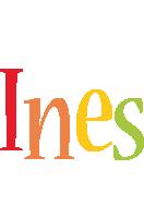 Ines birthday logo