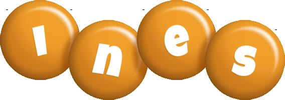 Ines candy-orange logo
