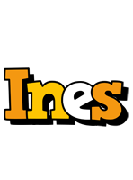 Ines cartoon logo