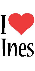 Ines i-love logo