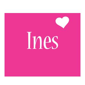 Ines love-heart logo