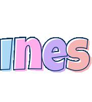 Ines pastel logo