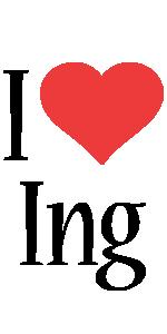 Ing i-love logo