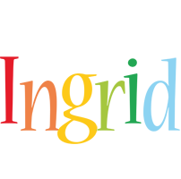 Ingrid birthday logo