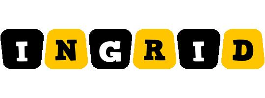 Ingrid boots logo