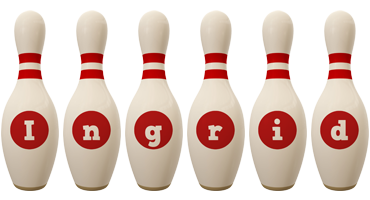 Ingrid bowling-pin logo