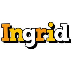 Ingrid cartoon logo