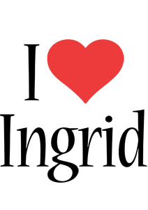 Ingrid i-love logo