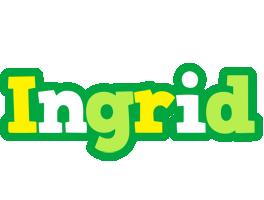Ingrid soccer logo